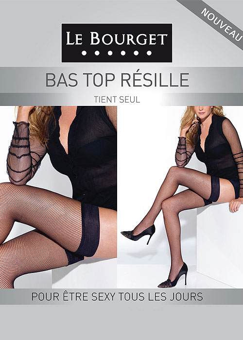 Le Bourget Resille Fishnet Hold Ups