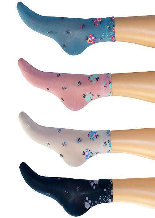 1960s Tights, Panty Hose, Stockings, Knee High Socks Levante Michela Ditsy Floral Socks £5.99 AT vintagedancer.com