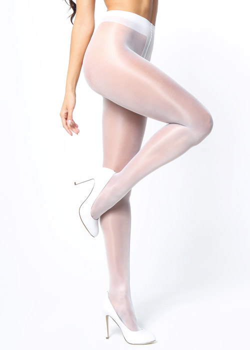 Miss O Sheer Gloss Open Crotch Tights
