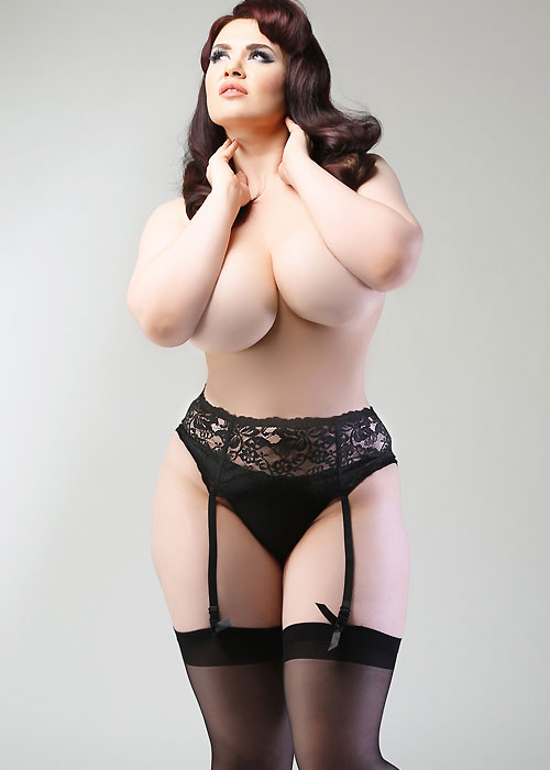 Miss Naughty Deep Lace Suspender Belt Plus Size