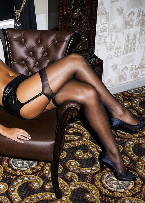 Miss Naughty High Shine Sheer Stockings