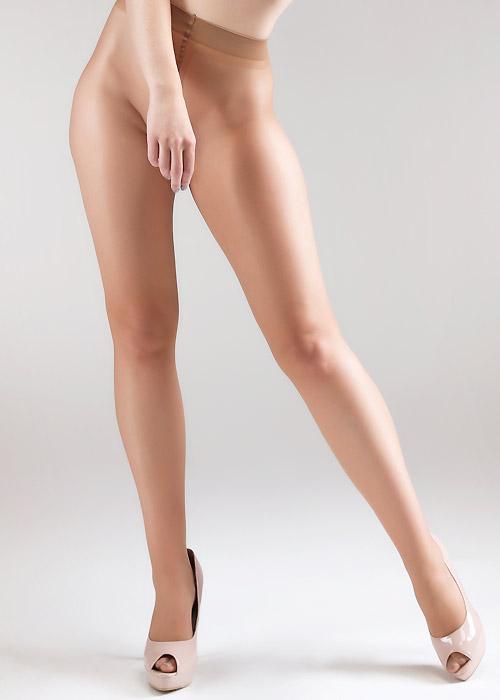 Miss Naughty Sheer Gloss Crotchless Tights