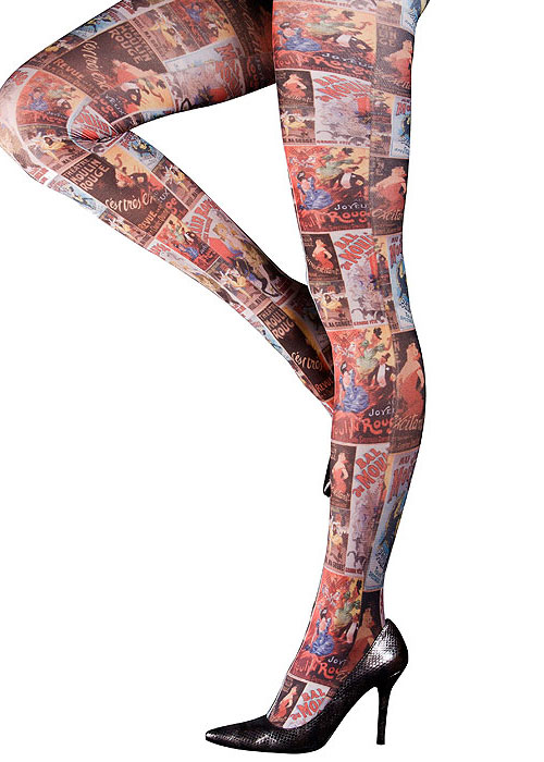 Moulin Rouge Au Joyeux Printed Tights In Stock At UK Tights 4e06787a259