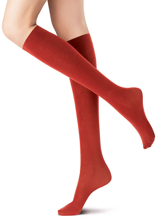 Oroblu All Colours Cotton Knee Highs