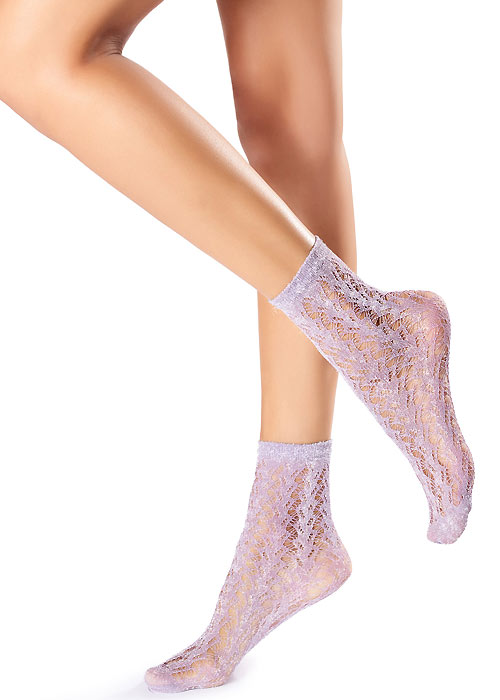 Oroblu Fishnet Glitter Socks
