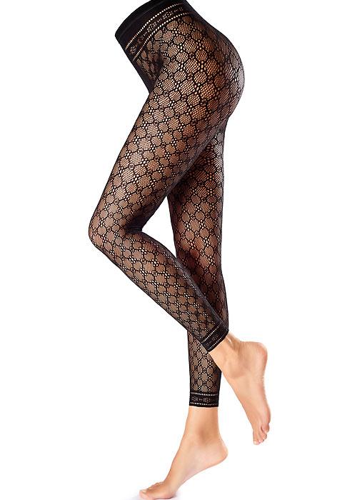 Oroblu Fishnet Macrame Fashion Footless Tights