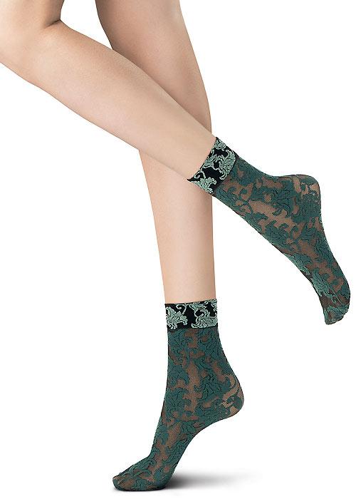 Oroblu Flower Bicolor Lace Socks