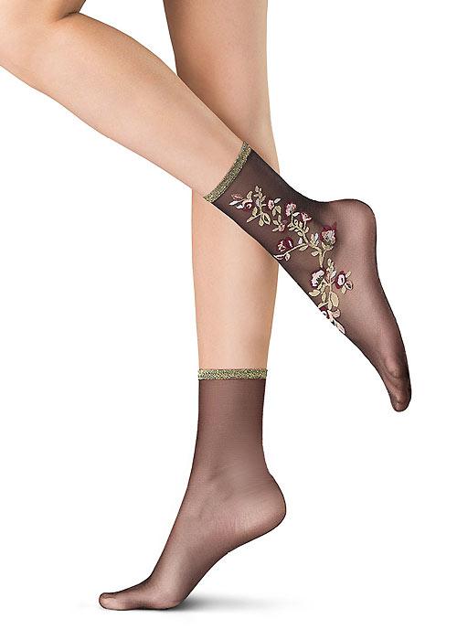 Oroblu Flower Decoration Socks