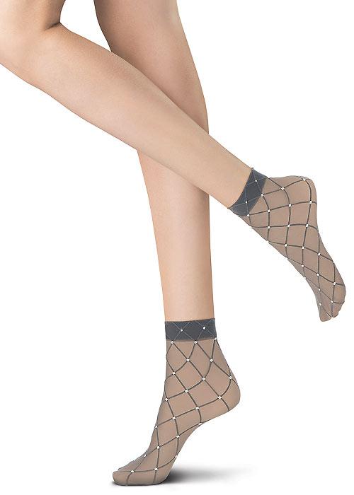 Oroblu Graphic Grid Socks