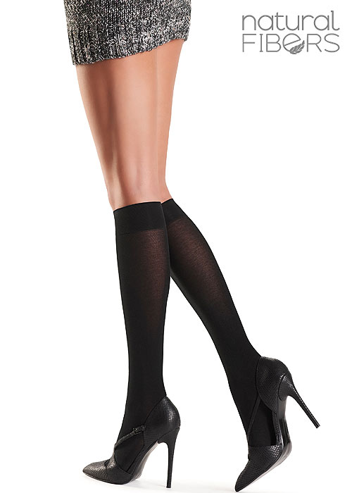 Oroblu Lindsey Natural Fibre Knee Highs