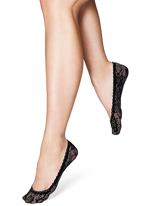 Oroblu Solange Lace Footlets 2 Pair Pack