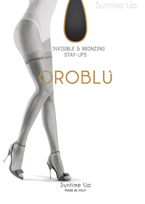 95bfa3fe7c618 Oroblu Suntime Bronze Effect Diamond Top Hold Ups In Stock At UK Tights