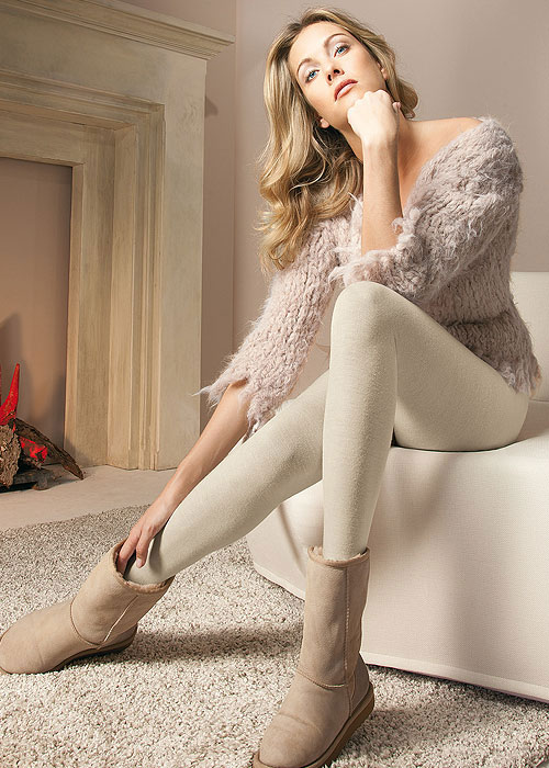 Oroblu Viktoria Wool and Cotton Plain Tights