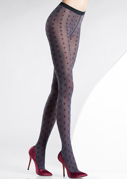 pierre mantoux alba patterned tights in stock at uk tights