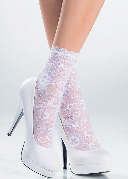 Pierre Mantoux Megan Lace Ankle Highs