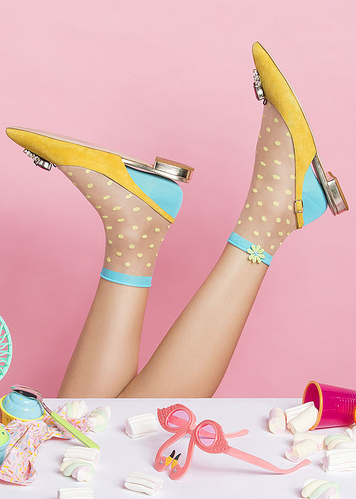 Pierre Mantoux Velia Collection Macaron Ankle Highs