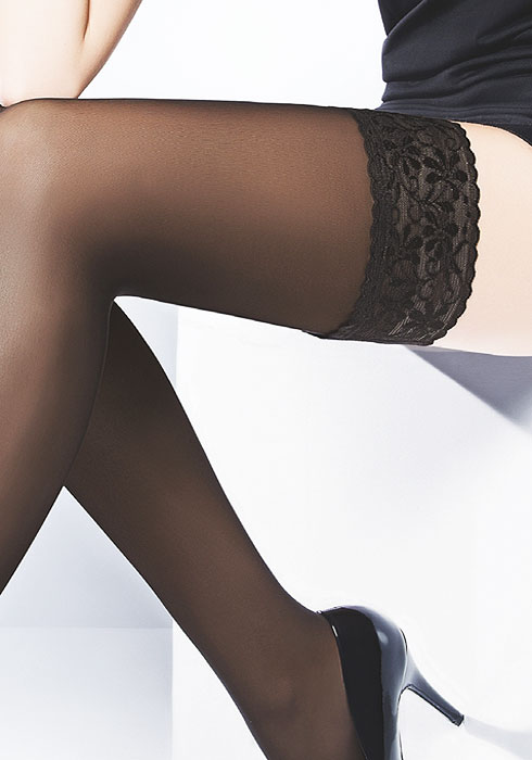 Pierre Mantoux Veloutine 30 Semi Opaque Hold Ups Zoom 2