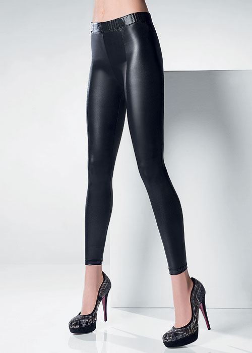Wet look tights leggings