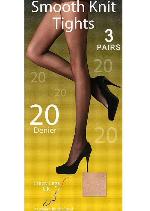 Pretty Legs Smooth Knit Tights 3 Pair Pack