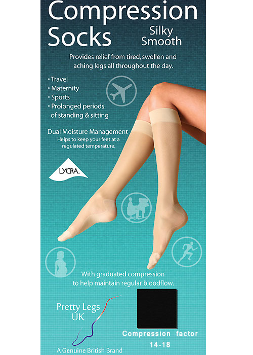 Pretty Legs Silky Smooth Compression Socks