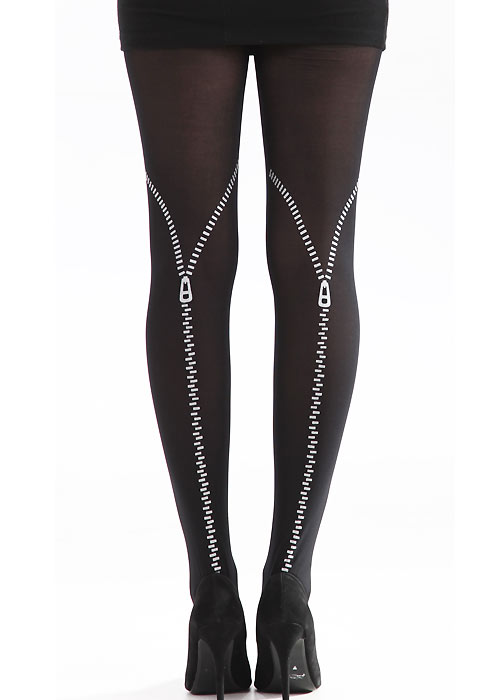 Pamela Mann Flocked Zip Tights