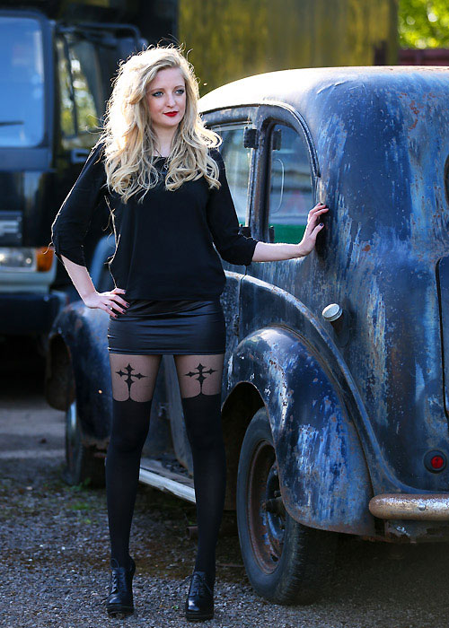 a1480e163aa Pamela Mann Goth Cross Suspender Tights In Stock At UK Tights