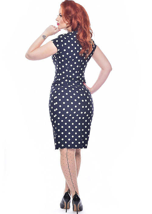 1950s Vintage Lingerie, Retro Pin Up Underwear Dotty Tights Pamela Mann Jive Seamed £9.99 AT vintagedancer.com