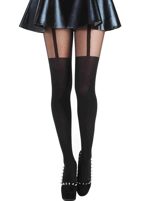 Pamela Mann Plain Stripe Suspender Tight