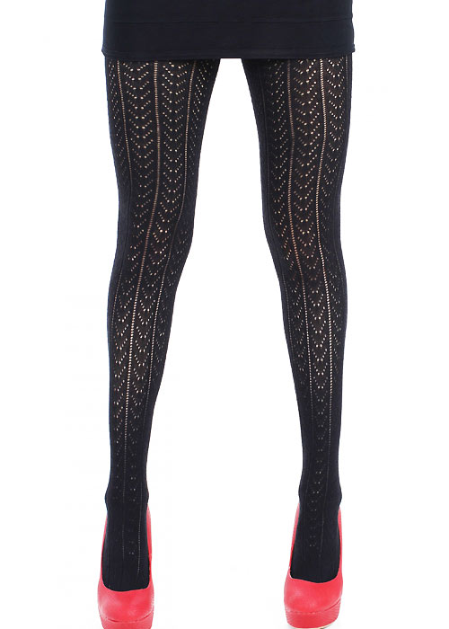 Steampunk Tights  & Socks Pamela Mann Pointelle Tights £9.99 AT vintagedancer.com