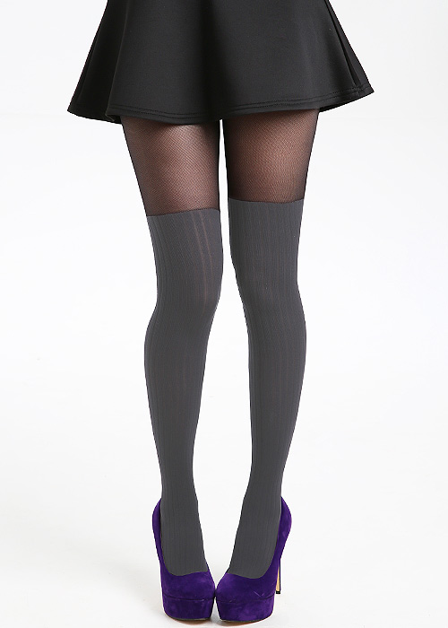 1920s Style Stockings, Tights, Fishnets & Socks Pamela Mann Rib Over The Knee Tights £6.99 AT vintagedancer.com