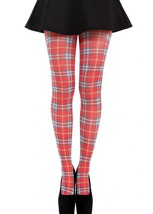 Pamela Mann Thompson Red Tartan Tights