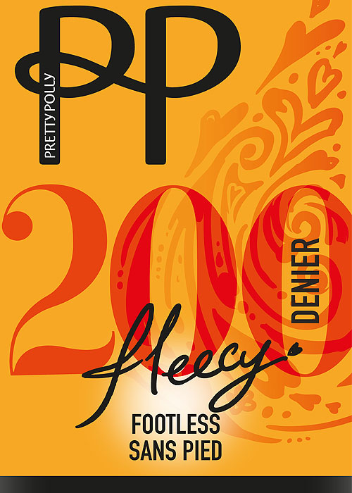Pretty Polly 200 Denier Fleecy Opaque Footless Tights