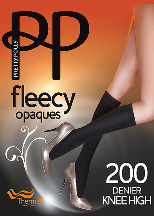 Pretty Polly 200 Denier Fleecy Opaque Knee Highs