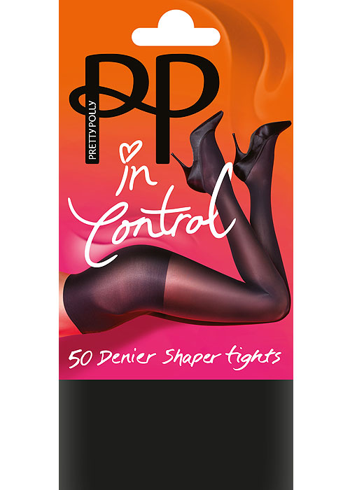 Pretty Polly In Control 50 Denier Opaque Shaper Tights