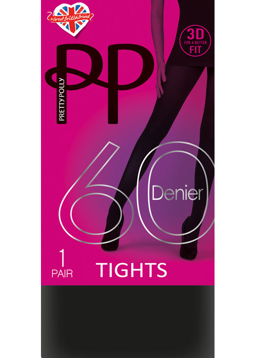 Pretty Polly 60 Denier New 3D Opaque Tights