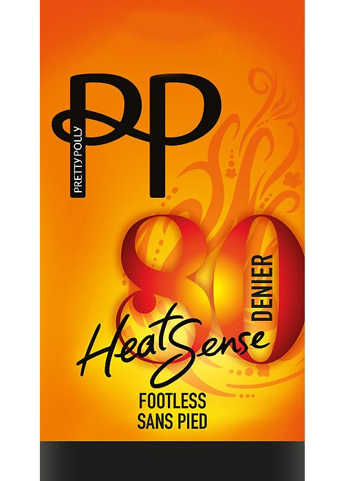 Pretty Polly 80 Denier Heatsense Footless Tights