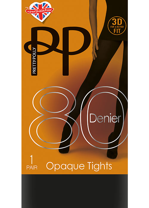 707629e82f9 Pretty Polly 80 Denier New 3D Opaque Tights In Stock At UK Tights