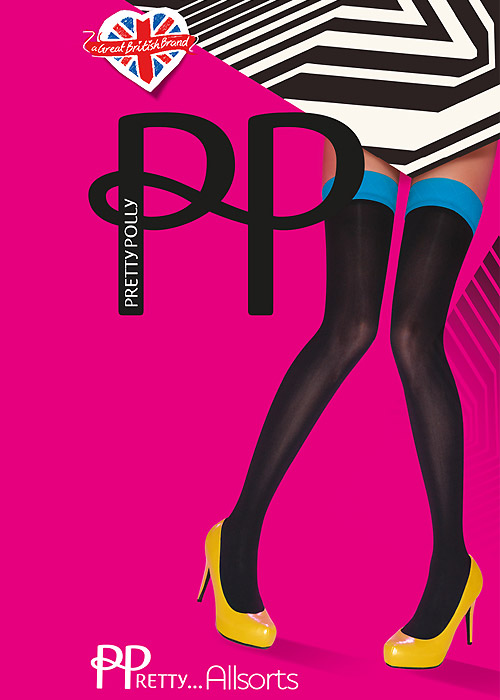 Pretty Polly Allsorts Coloured Top Hold Ups