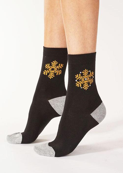 Pretty Polly Crystal Snowflake Socks