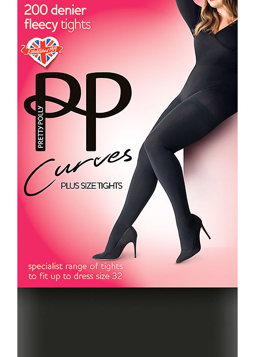 d8614b3528a1b Pretty Polly Curves 200 Denier Fleecy Tights In Stock At UK Tights