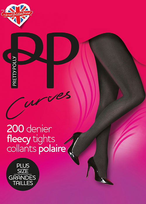 Pretty Polly Curves 200 Denier Fleecy Tights