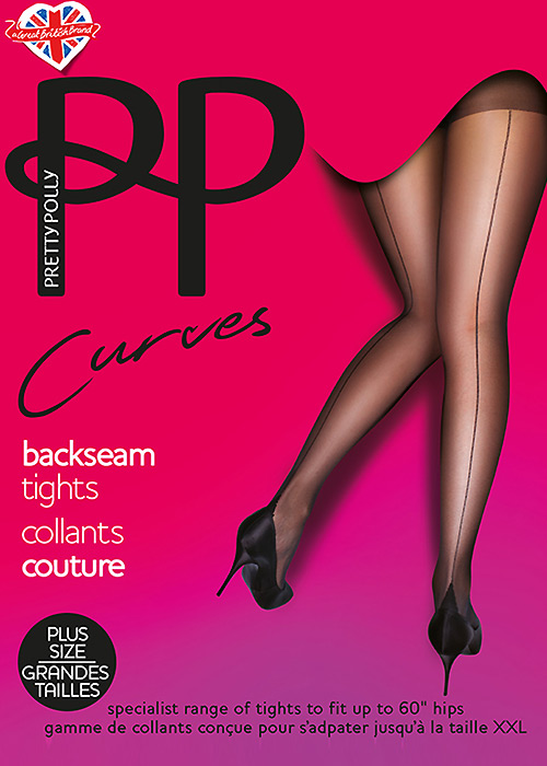 Seamed Stockings, Nylons, Tights Pretty Polly Curves Backseamed Tights £9.99 AT vintagedancer.com