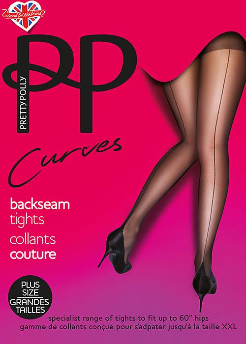 1950s Lingerie History – Bras, Girdles, Slips, Panties, Garters Pretty Polly Curves Backseamed Tights £9.99 AT vintagedancer.com