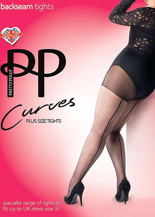 Seamed Stockings, Nylons, Tights Curves Backseamed Tights £9.99 AT vintagedancer.com