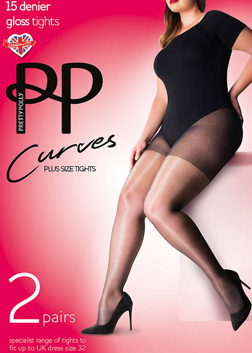 Pretty Polly Curves Gloss Tights 2PP