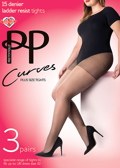 6235be0faf677 Pretty Polly Curves Ladder Resist Tights 3PP In Stock At UK Tights