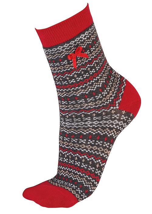 Pretty Polly Fairisle Xmas Socks
