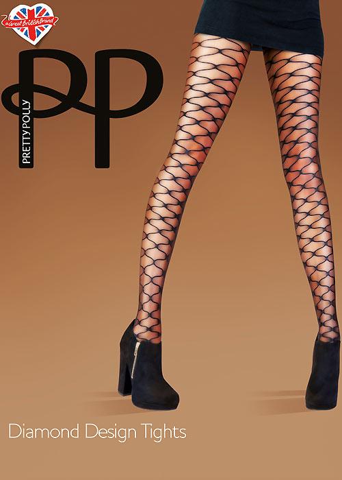 Pretty Polly Fashion Diamond Design Tights