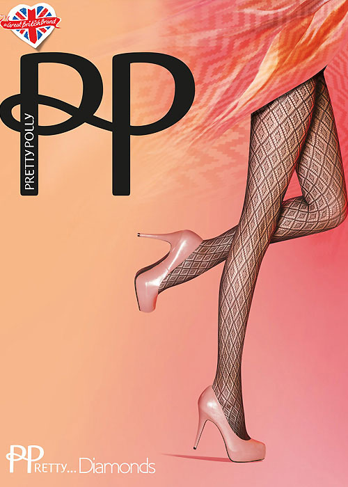 Pretty Polly Diamonds Net Fashion Tights