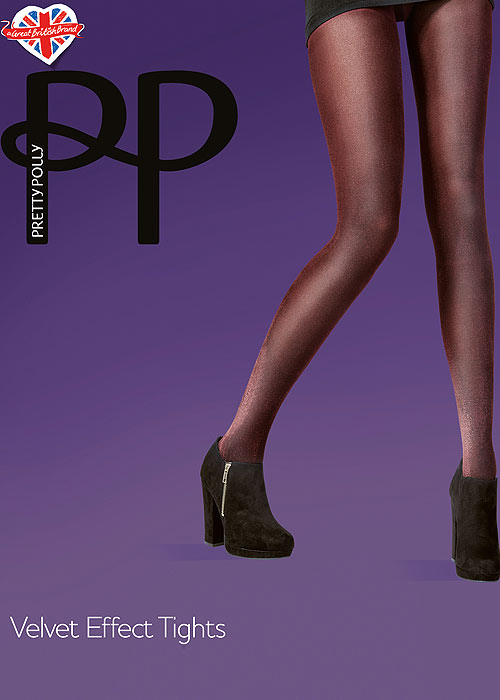 Pretty Polly Fashion Velvet Effect Tights